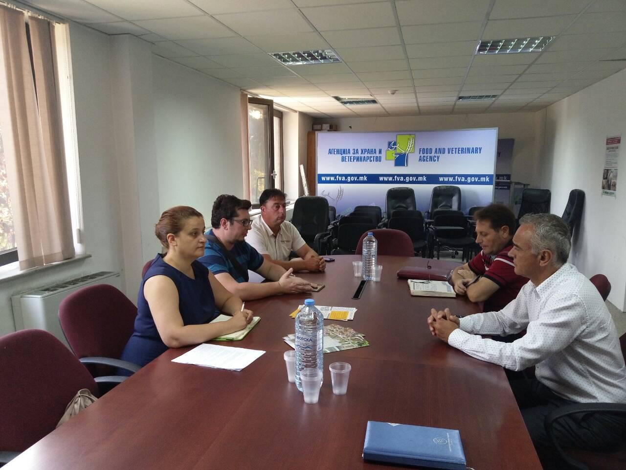 Работен состанок со Агенцијата за храна и ветеринарство