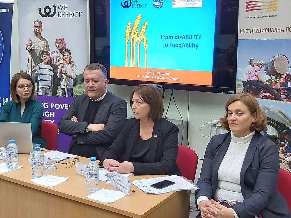 """Презентација на проектот за лица со попреченопсти во руралните средини – проектот """"From Disability to FoodAbility"""""""