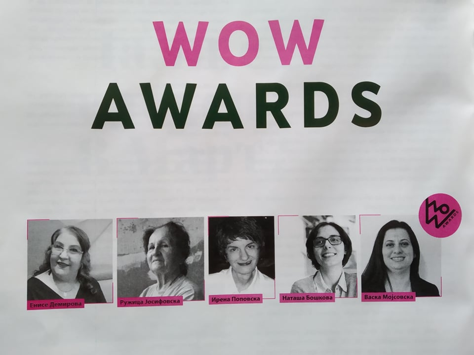 Мојсовска, претседателка на НФФ, добитничка на награда за женски активизам