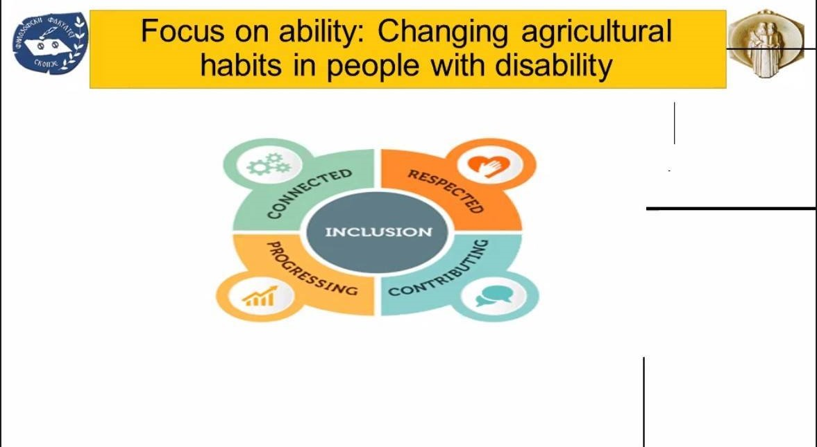 From Disability to FoodAbility дел од конференцијата 100 години Филозофски факултет